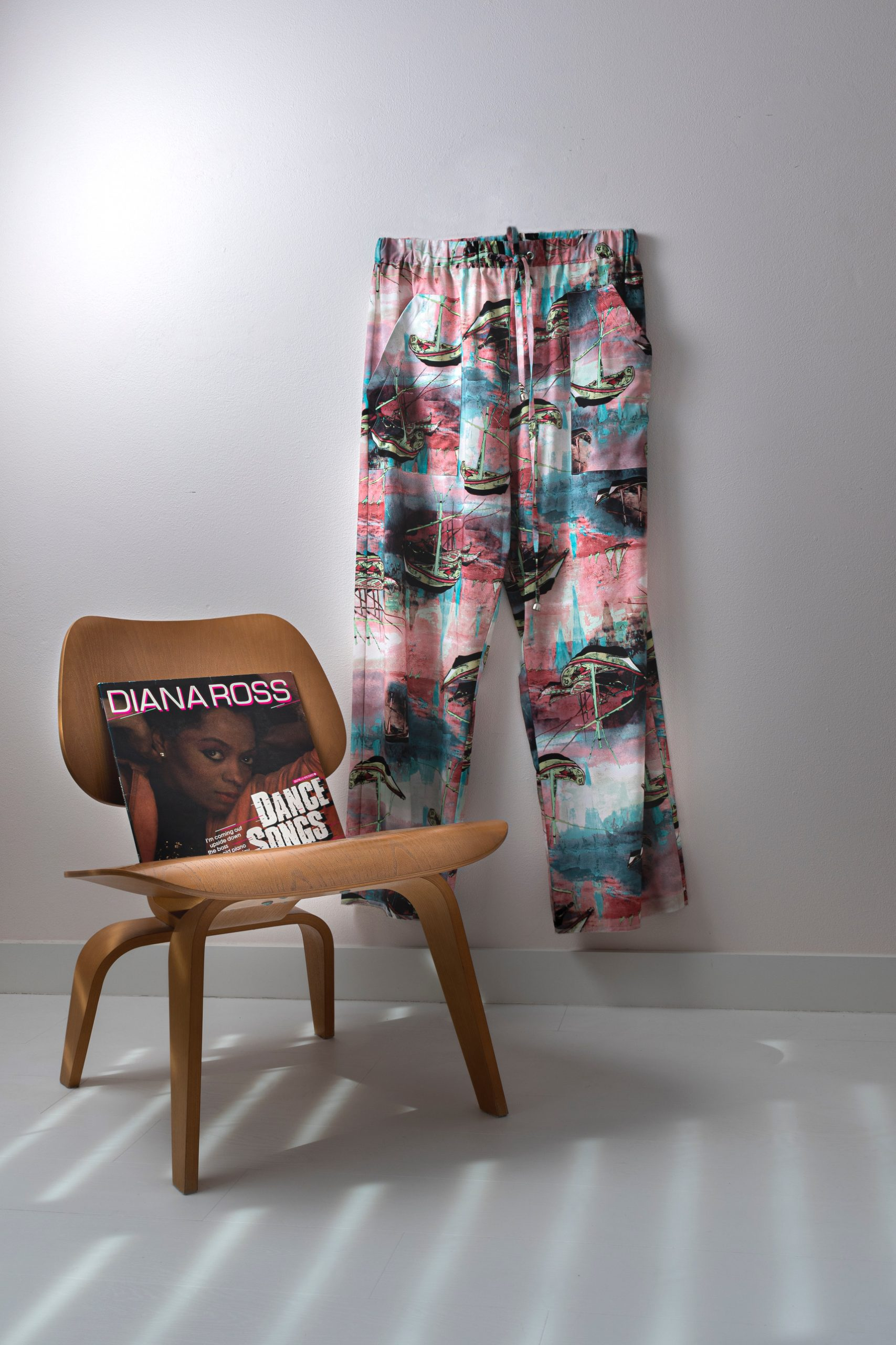 printed satin pants Michael van der meide